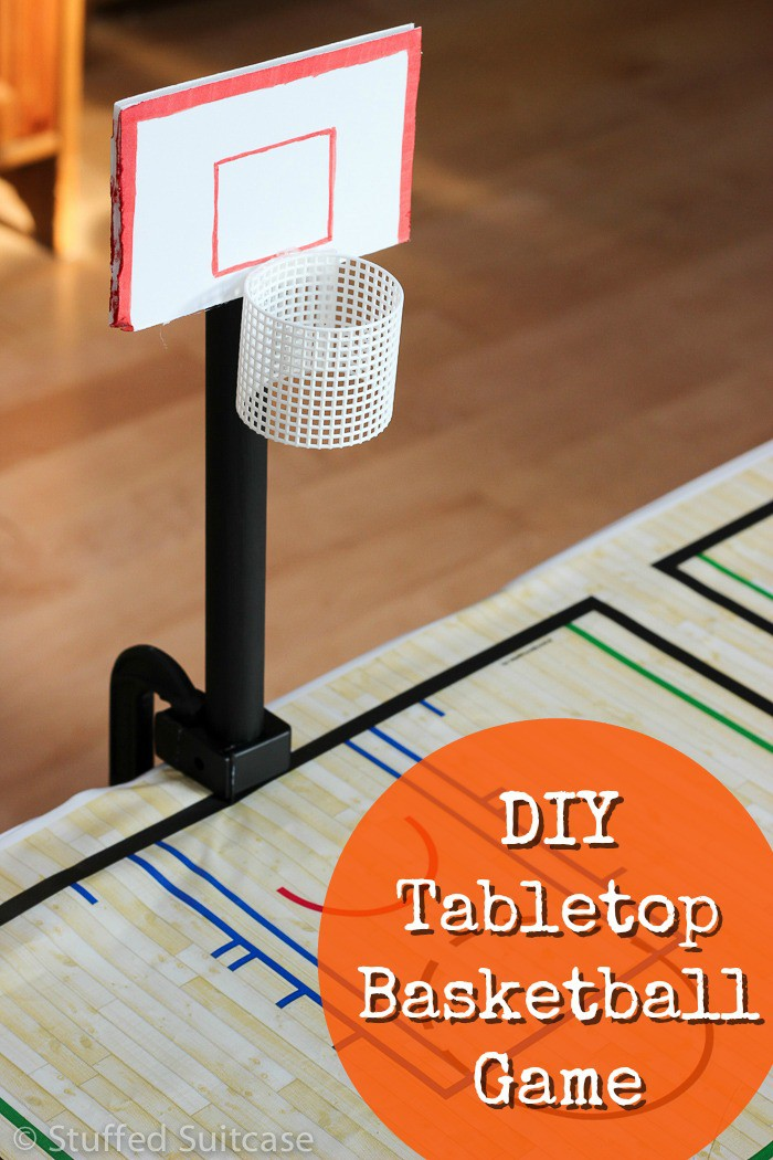Diy Tabletop Basketball Game Fun Basketball Party Ideas