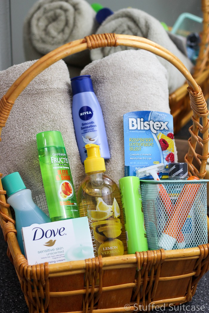 Create A Welcome Guest Gift Basket Of Bathroom Amenities For Your  Houseguests.