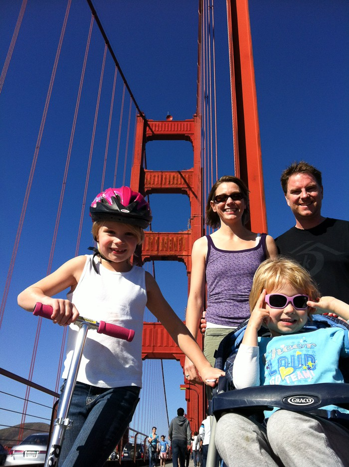 Family fun at the Golden Gate Bridge