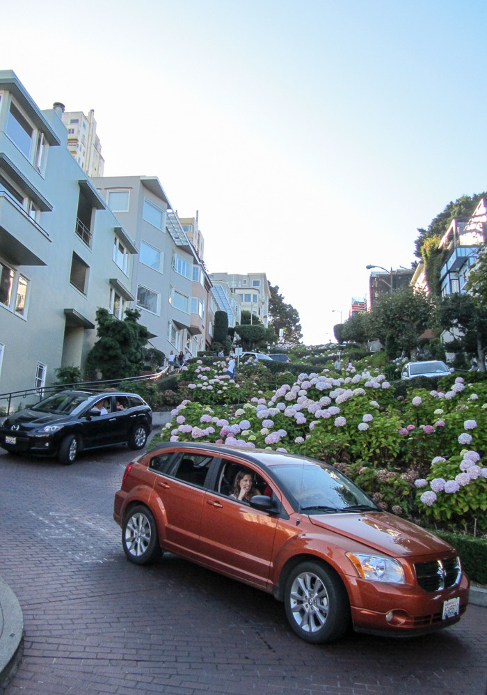 "At the ""end"" of Lombard Street in San Fransisco"