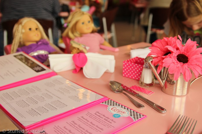 Julie and Kit had special seats to join us for lunch at the American Girl Bistro
