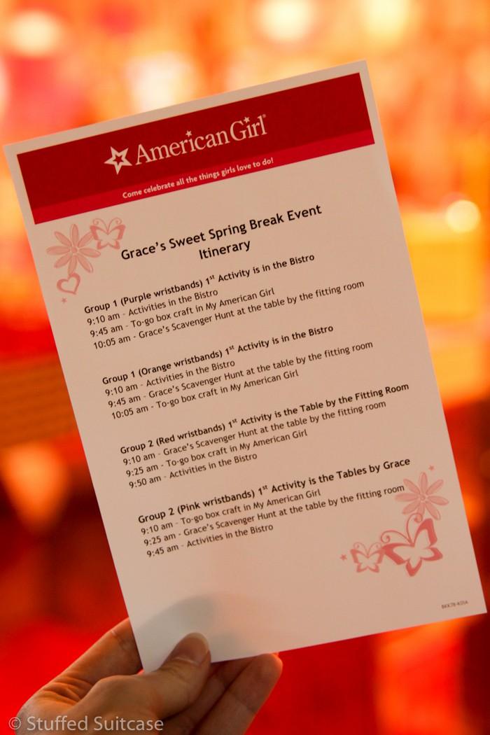 Grace's Sweet Spring Break Event Schedule Rotations