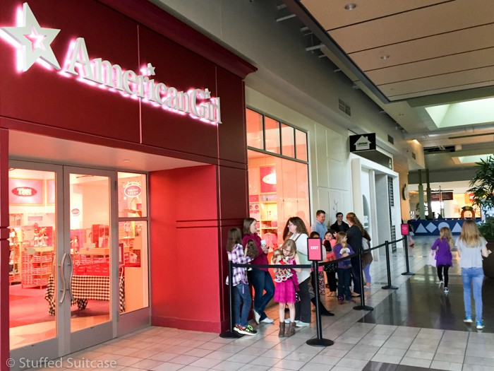 Lining up for the special American Girl Grace Spring Break event