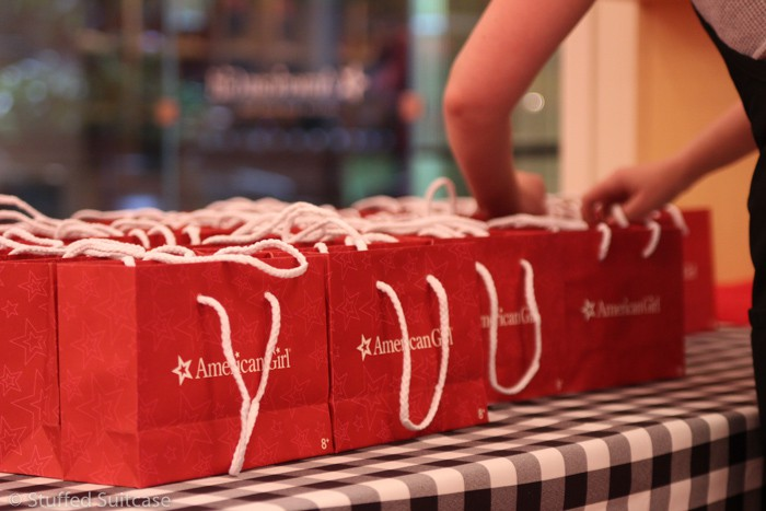 Gift bags given to each person for the special event at American Girl Seattle
