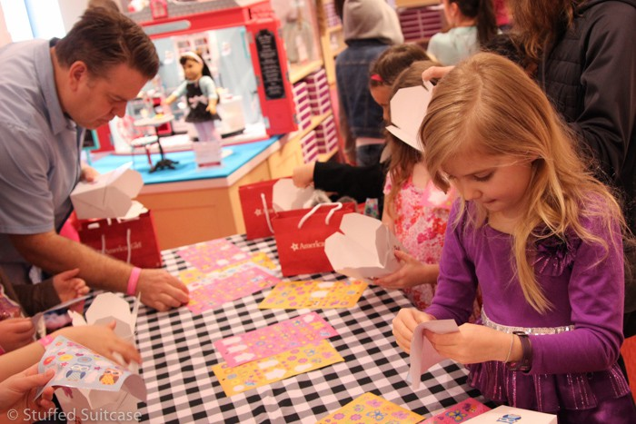 Activity station - decorating treat boxes with stickers