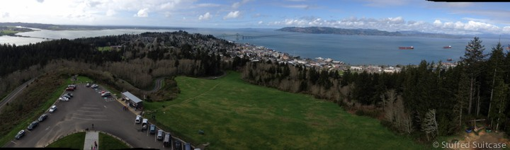 The view from the top of the Astoria Column