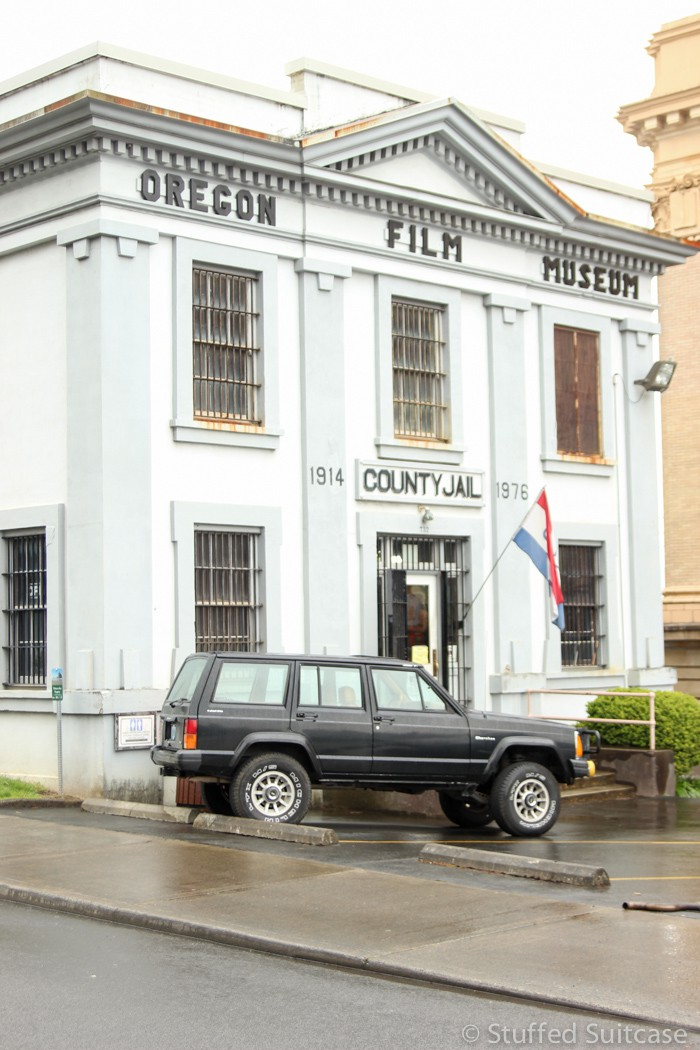 The Oregon Film Museum in Astoria, Oregon, is housed in the old jail, which was used in the filming of the Goonies movie.
