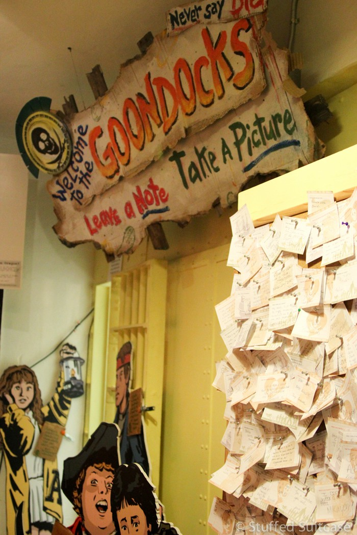 The ode to the Goonies at the Oregon Film Museum.