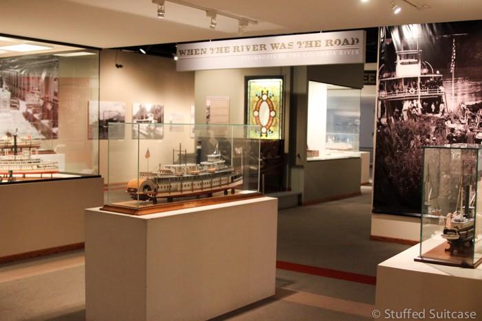 Exhibits at the Columbia River Maritime Museum in Astoria, Oregon
