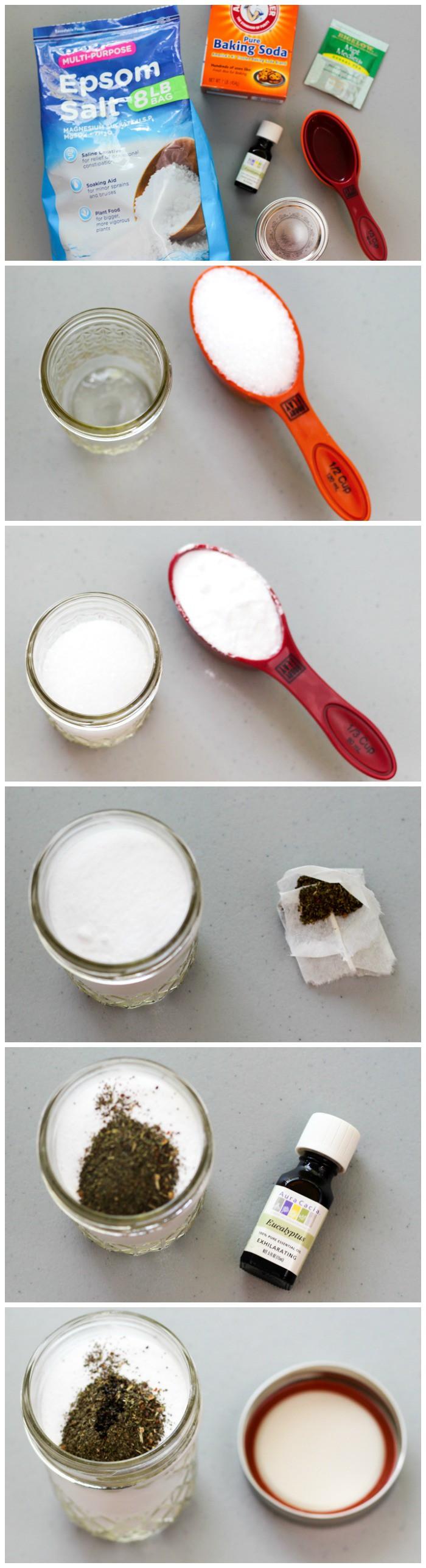 How to make a DIY foot soak - full tutorial on ingredients plus a free printable
