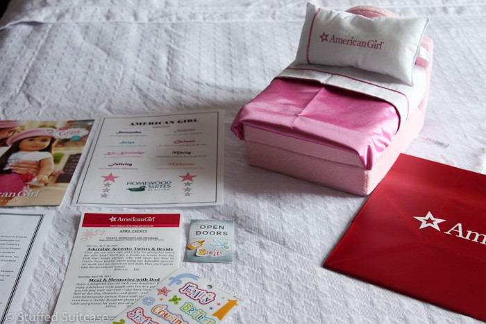 American Girl Hotel Stay package includes a bed for the dolls