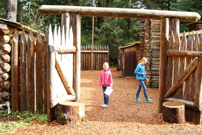 Educational family travel exploring Fort Clatsop and learning about the Lewis & Clark expedition