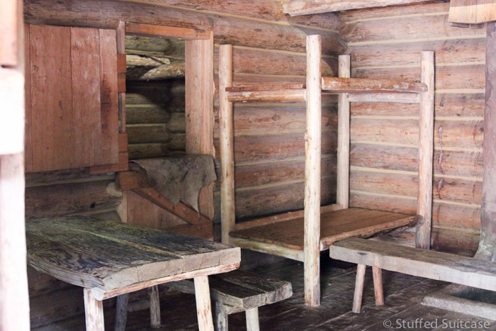 Example of the living quarters at Fort Clatsop