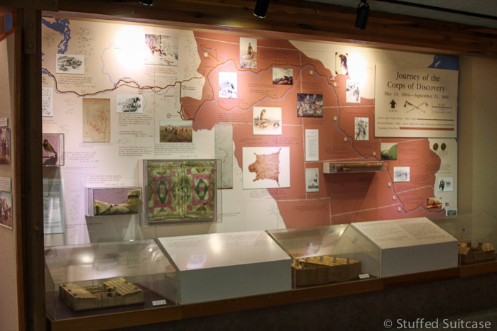 Great educational displays inside the Lewis & Clark Visitors Center