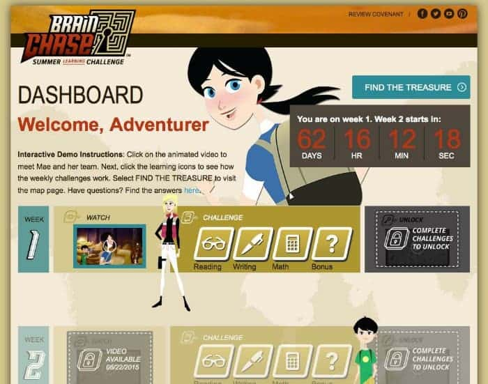 Brain Chase is an awesome new learning tool to help parents and teachers keep kids learning during the summer and stay active in reading and math. Plus it's a fun mystery adventure too!