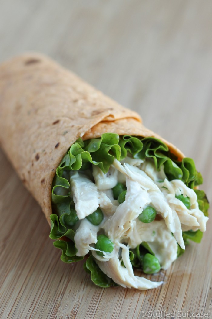 This tasty ranch chicken wrap is an excellent lunch to create with your leftover chicken.