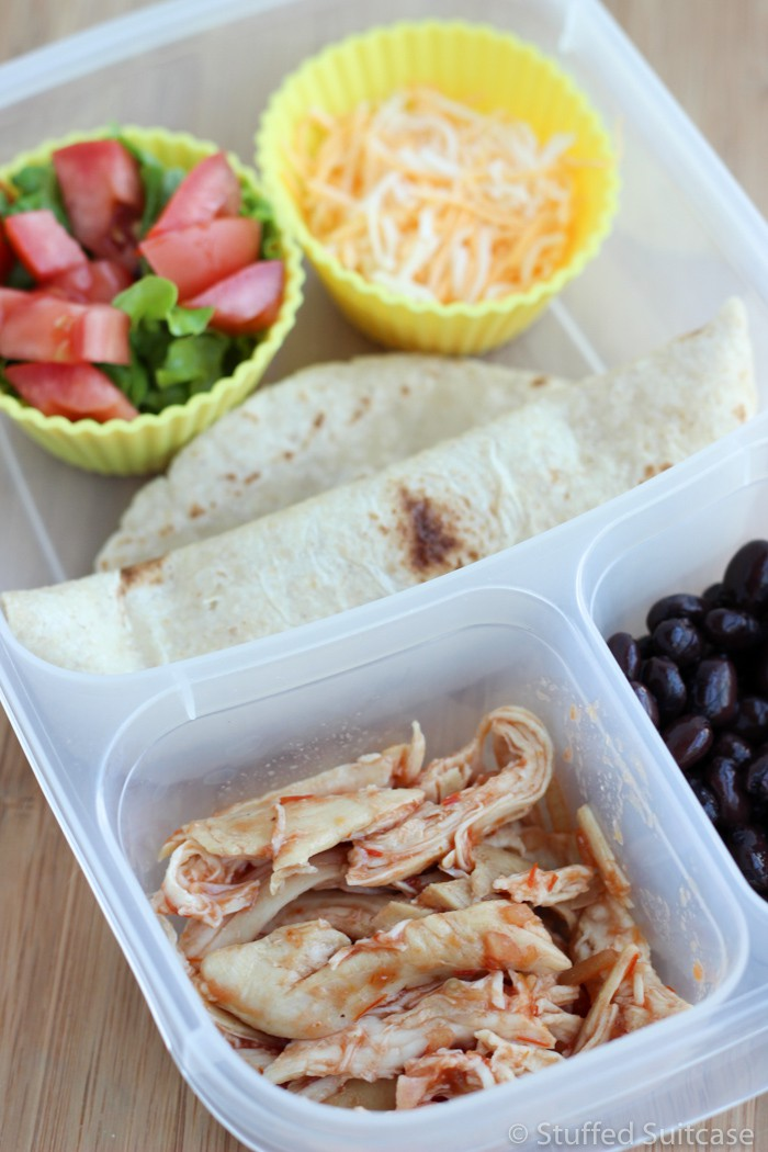 One of my favorite leftover chicken recipes, chicken tacos
