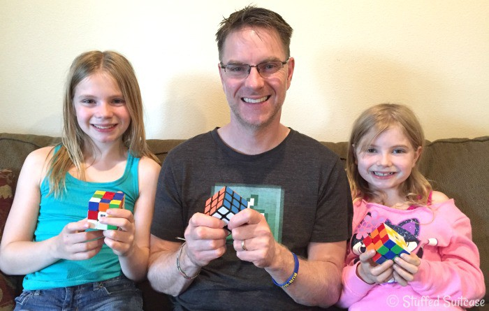 Learning to solve the Rubik's Cube is a great family activity!
