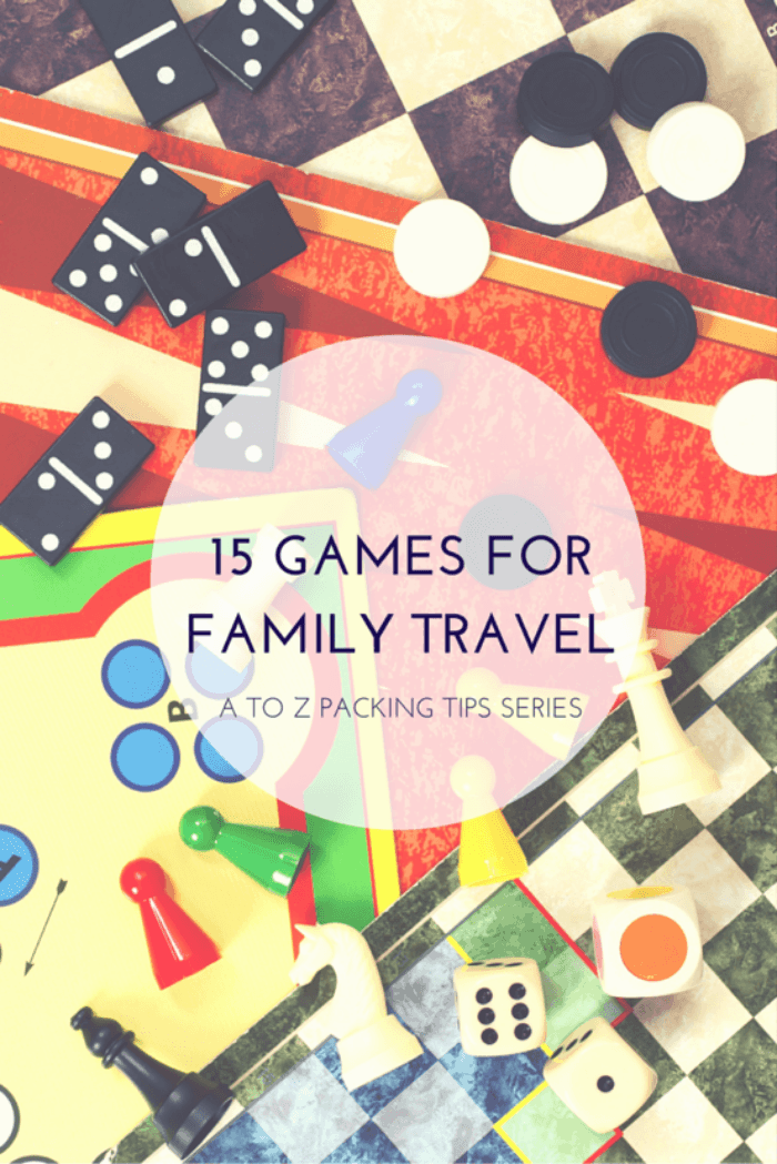Ready to head out for a family vacation? Here's a list of 15 games of a few varieties, that will help keep the travel time fun and the kids entertained!