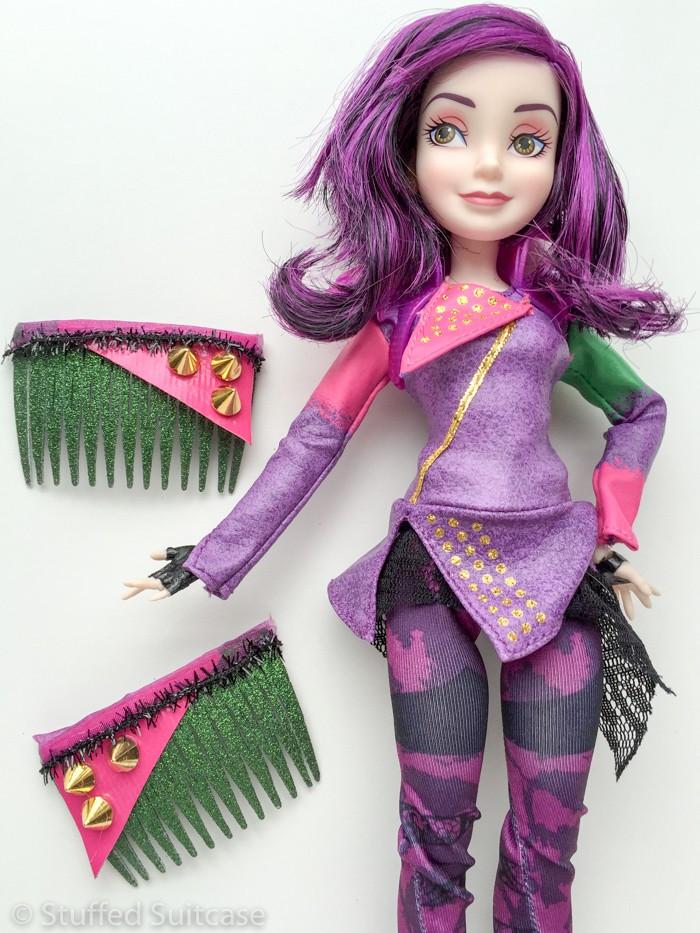 <em>Descendants</em> Mal doll and DIY Hair Accessories