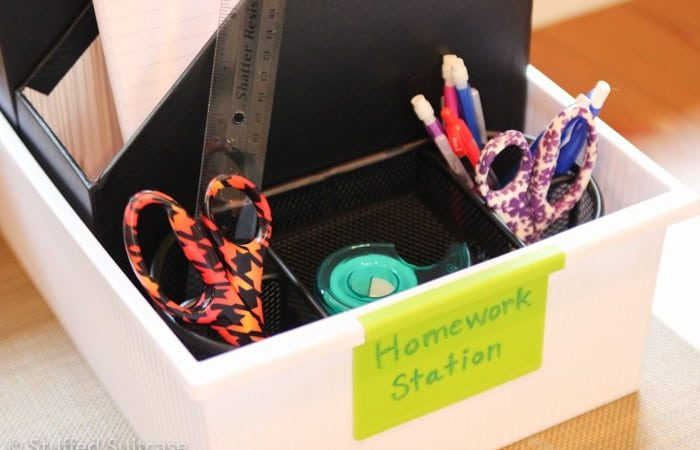 Creating a Homework Station for Back to School