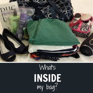 A peek inside a travel blogger's bag with packing tips for packing light!