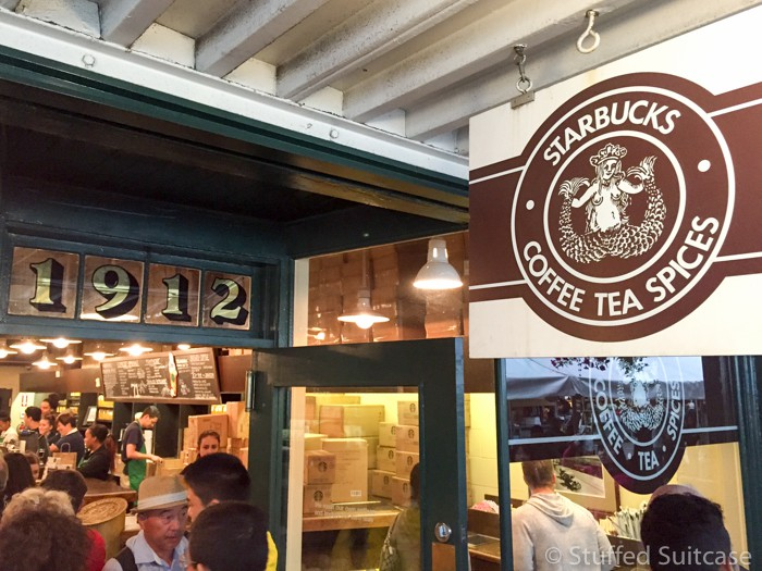 Discovering the original Starbucks Seattle store at 1912 Pike Place