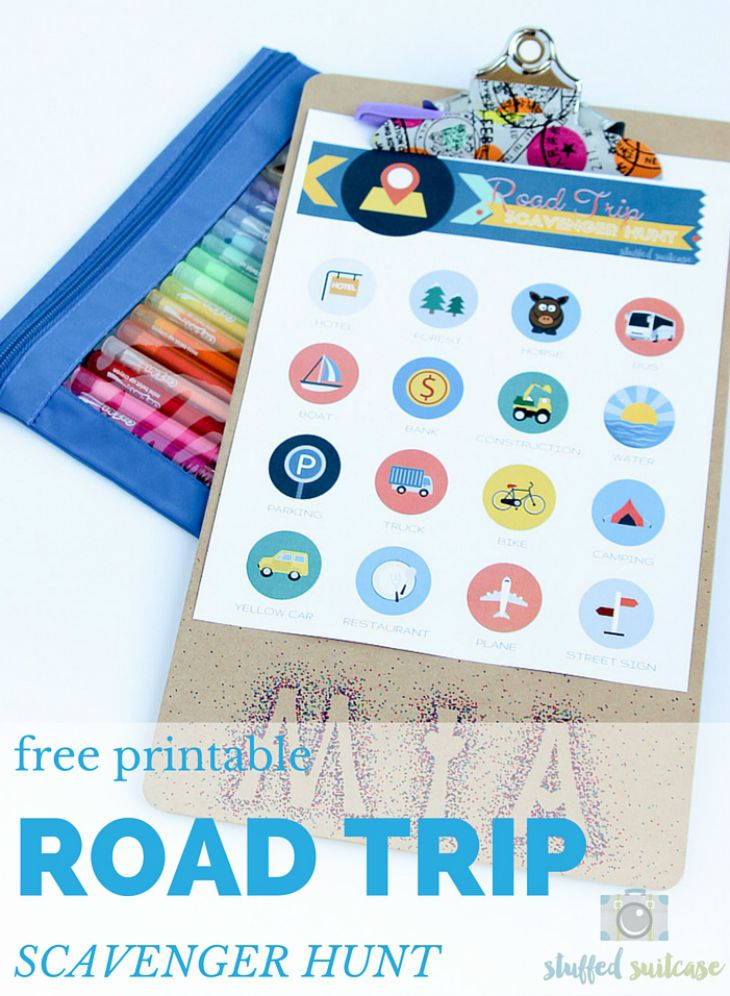graphic regarding Road Trip Scavenger Hunt Printable referred to as Cost-free Printable Highway Getaway Scavenger Hunt for Young children