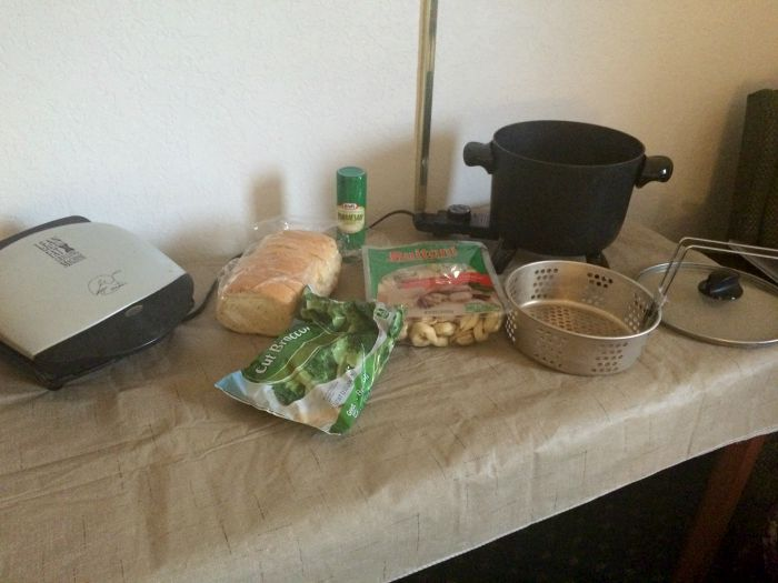 Tips and necessities to pack for cooking in a hotel room and saving money while you travel