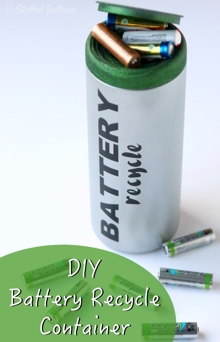 Don't just throw your used batteries in the garbage - recycle them! Create this battery recycling container to collect your used batteries and turn them in to be recycled and reused!
