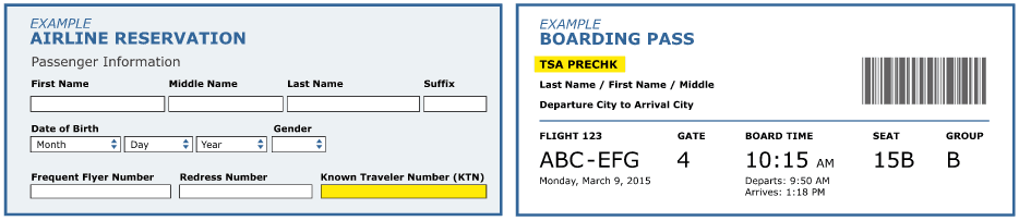 How you use TSA PreCheck for airline bookings source tsa.gov