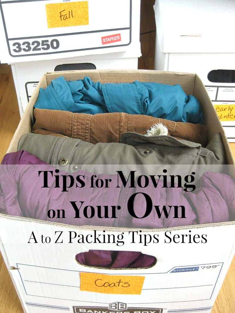 Tips for Moving on Your Own