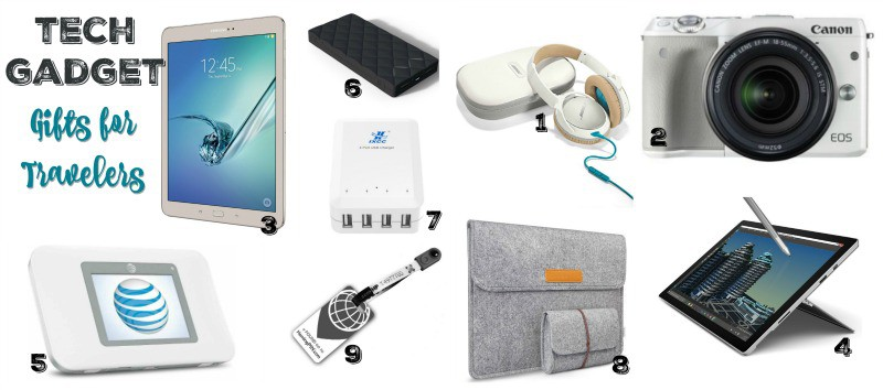 Tech Gadget Gifts for Travelers - Stuffed Suitcase