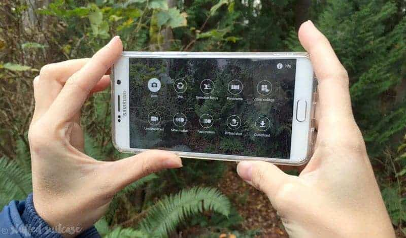 camera options on the Samsung Galaxy Note5