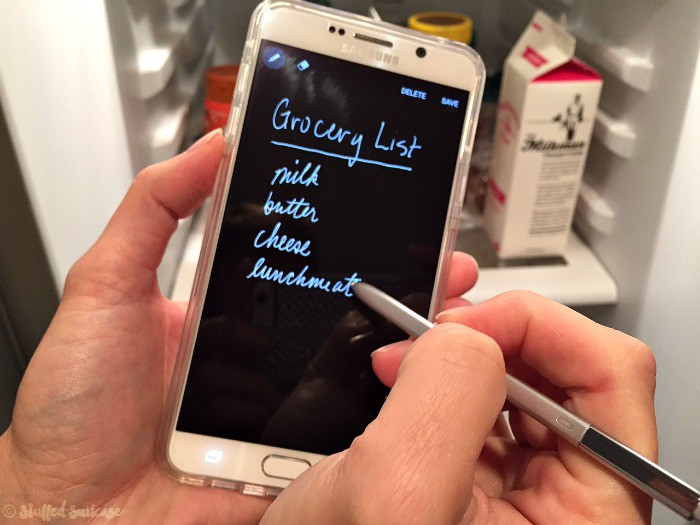 taking notes with the Samsung Galaxy Note5