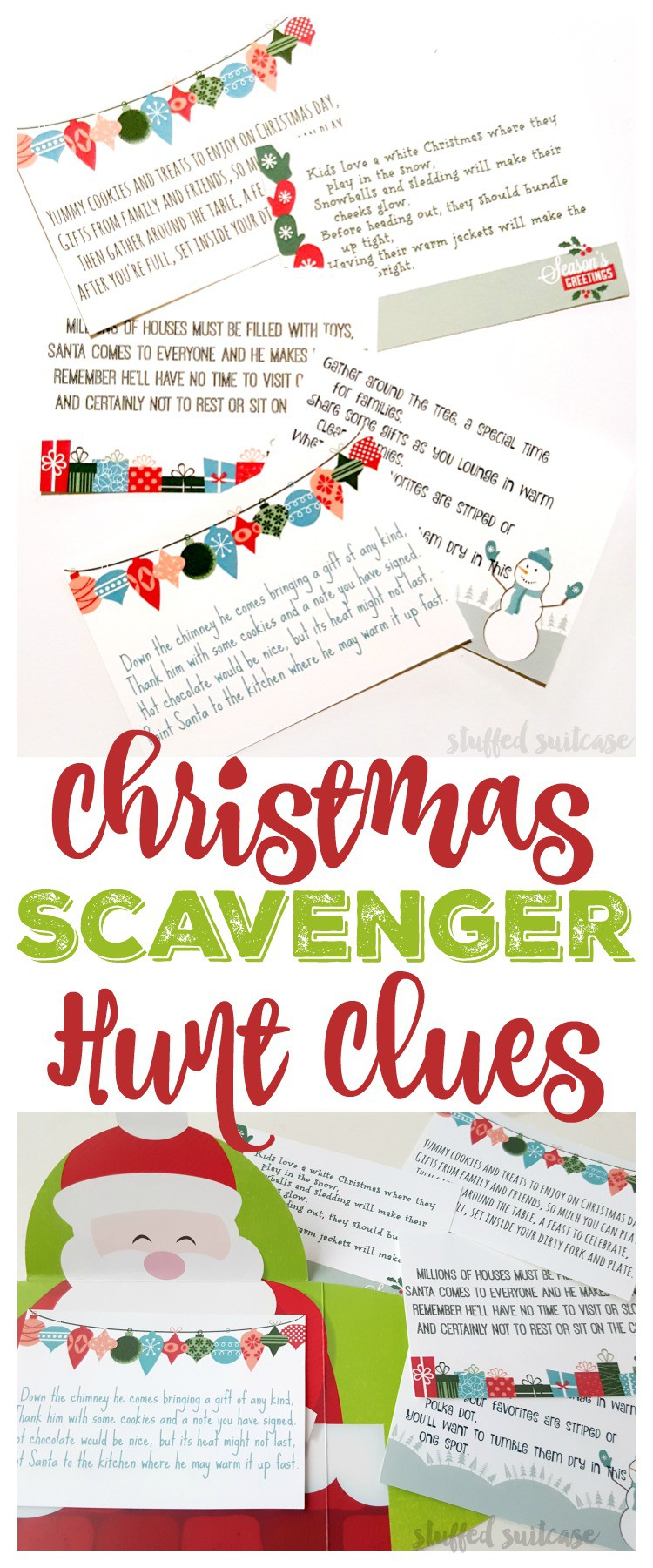 photograph about Christmas Scavenger Hunt Printable Clues referred to as Xmas Scavenger Hunt Riddles and Clues