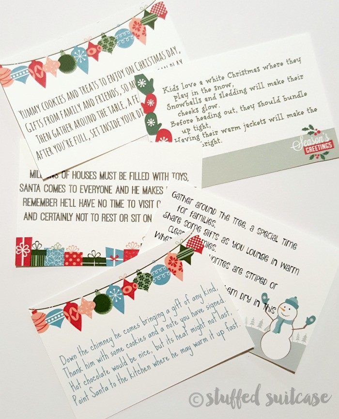 Plan a fun search for kids with these Christmas Scavenger Hunt Riddles! Stuffed-Suitcase