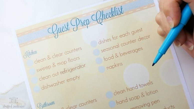 How to Be the Hostess with the Mostess: Guest Prep Checklist