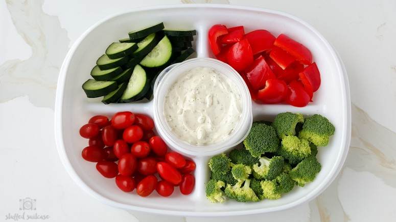 vegetable platter for parties with Rubbermaid Party Platter