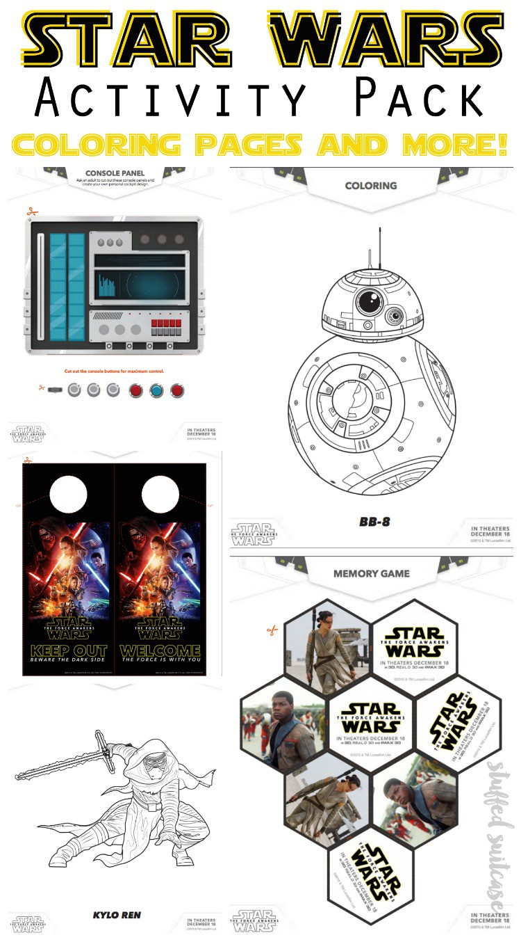 Get the official Disney The Force Awakens activity pack filled with Star Wars coloring pages and crafts!