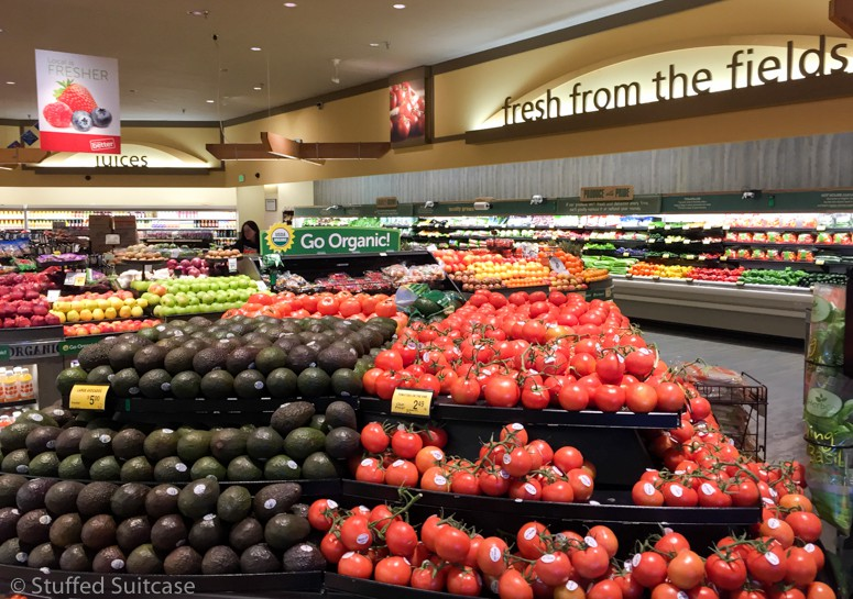 Shopping at Safeway at the produce department first