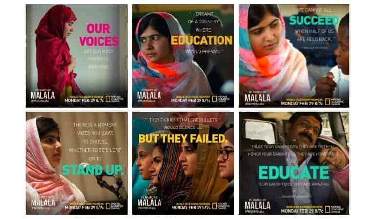 He Named Me Malala airs February 29th on Nat Geo