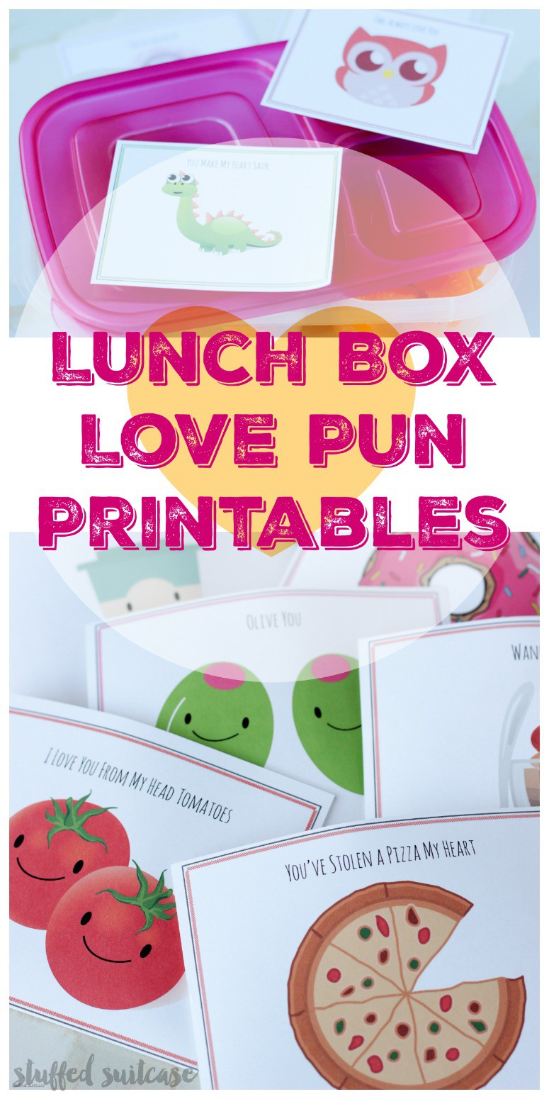 Printable Love Puns Lunch Box Notes For Kids Valentine S Day