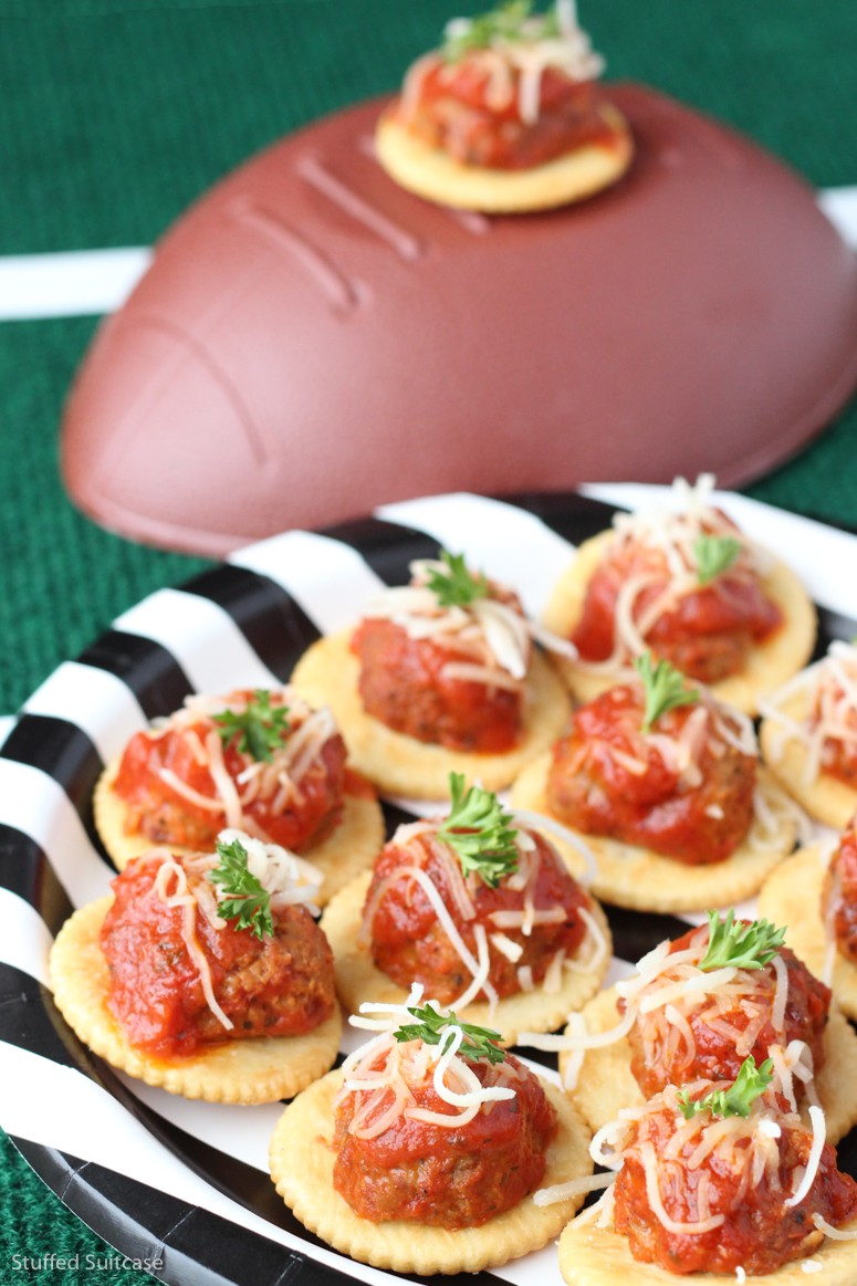 Are you ready for the big football game!? These meatball sub recipe appetizers are easy and delicious! Perfect appetizers for a crowd or party!