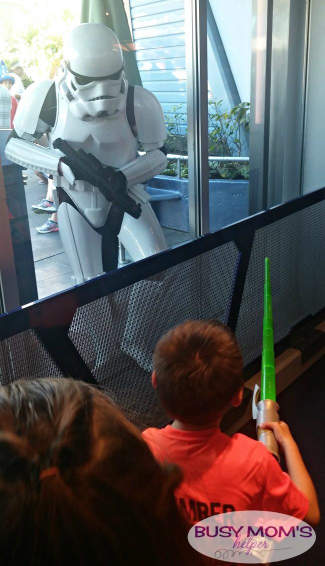 meeting disney characters storm trooper at disneyland