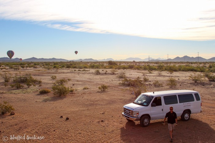 Hot Air Expeditions experience riding Phoenix hot air balloons
