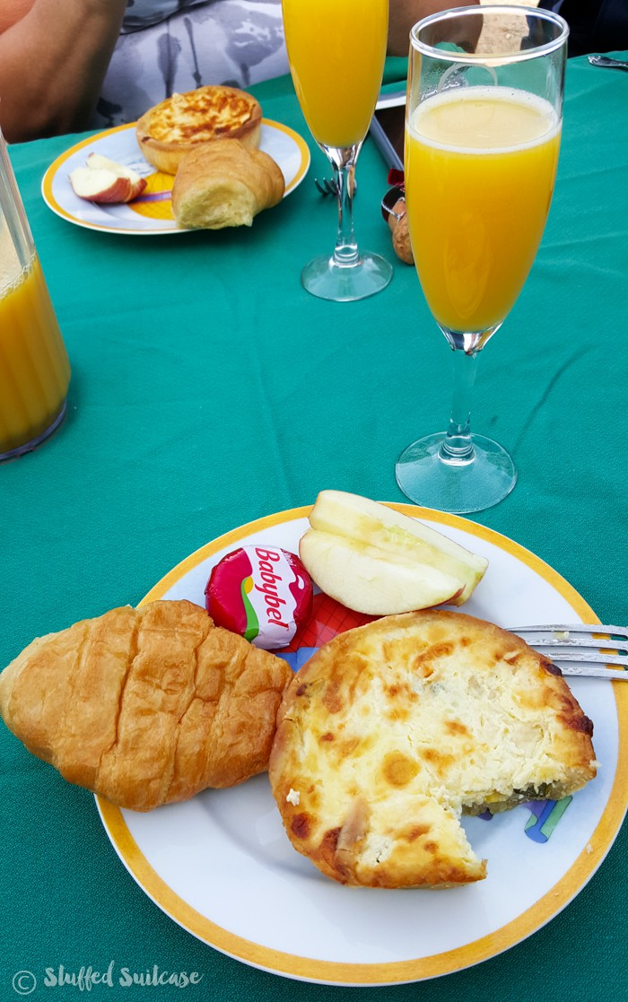 Breakfast is served after riding aboard Phoenix hot air balloons