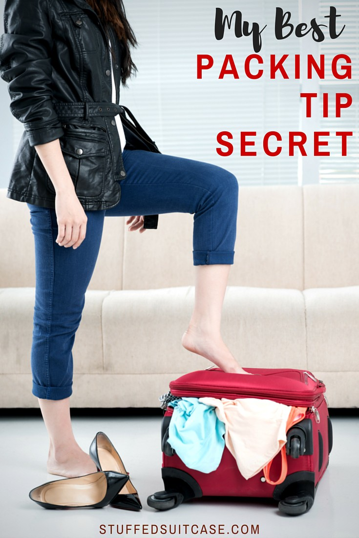 Before you head out on your vacation, you must read this! It's my number one and best packing tip secret you need before you start packing a suitcase!