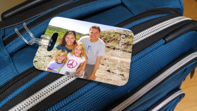 And to get ready for more adventures, here's our new custom luggage tags!