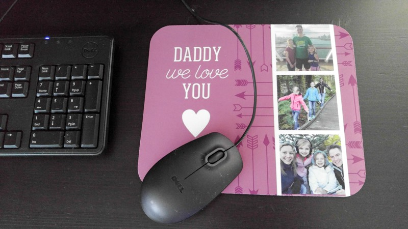 This mousepad will bring a smile to dad's face each work day!